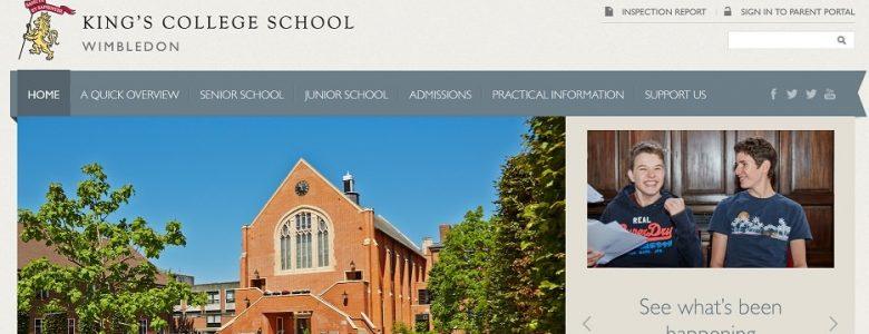 Screenshot of Kings College Wimbeldon