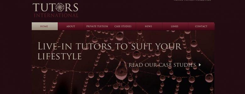 Screenshot of the Tutors International website
