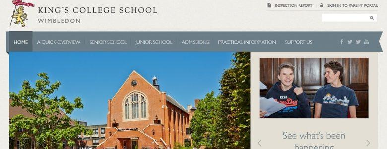 Screenshot of King's Wimbledon school