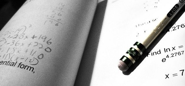 Photo of a pencil and a test paper