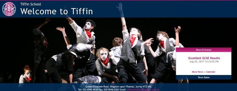 Screenshot of Tiffin Grammar School website