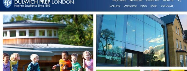 Screenshot of the Dulwich Prep School website
