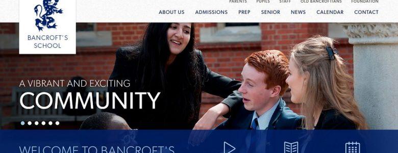 Screenshot of Bancroft School website