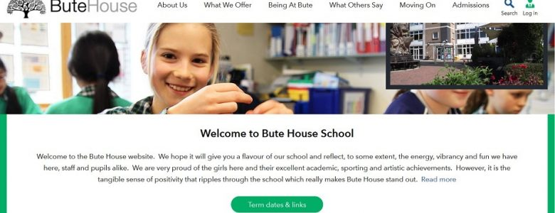Screenshot of Bute House school website