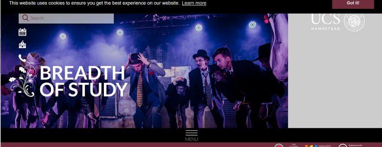 Screenshot of University College School website