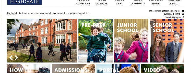 Screenshot of Highgate School website