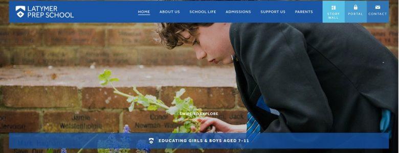 Screenshot of Latymer Prep School website