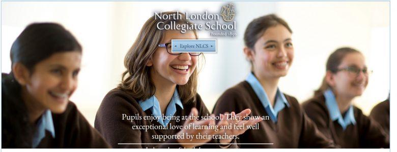 Screenshot of North London Collegiate School website