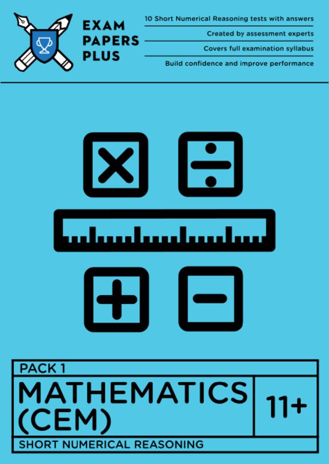 11+ Maths Pack 1 (Grammar Schools) Exam Practice Papers