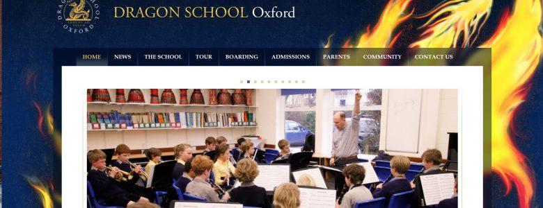 Screenshot of Dragon School website