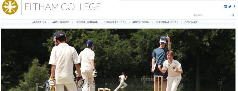 Screenshot of Eltham College website