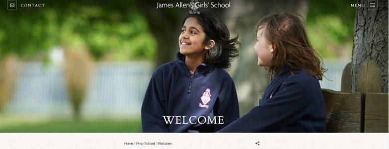 Screenshot of James Allen Preparatory School