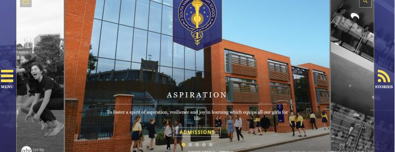 Screenshot of South Hampstead High School website