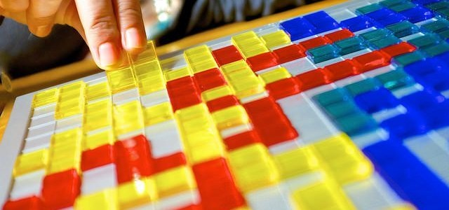 Colourful squares on a board