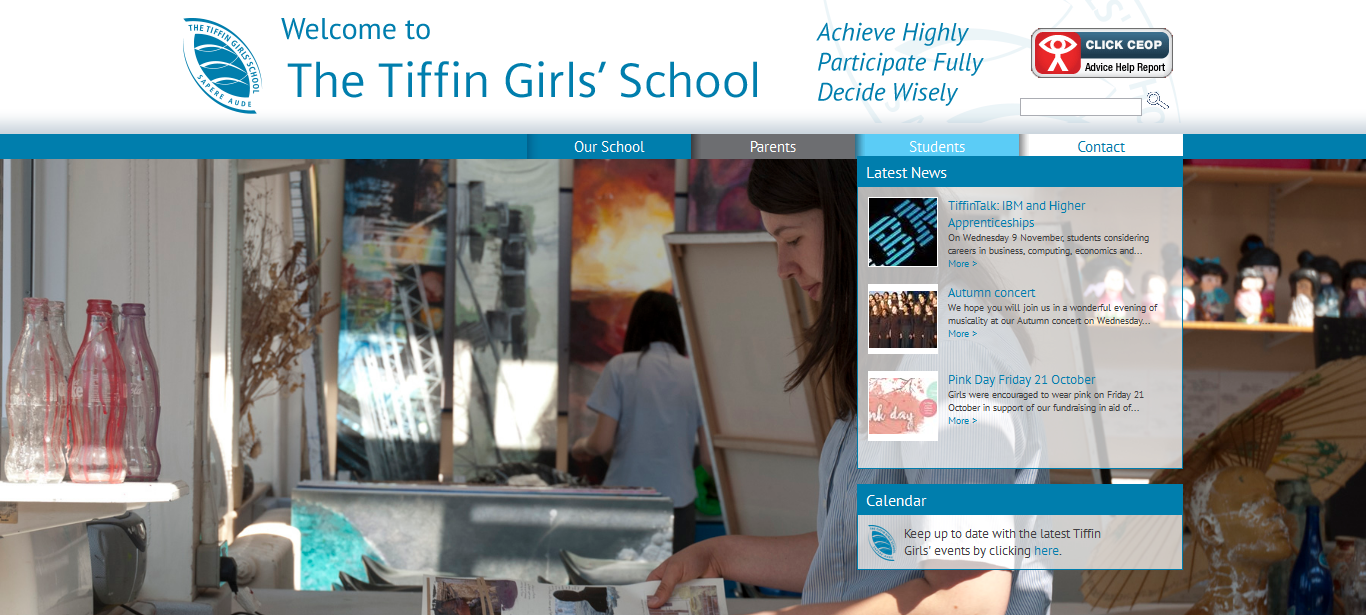 Screenshot of Tiffin Girls School