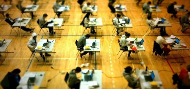 An exam hall