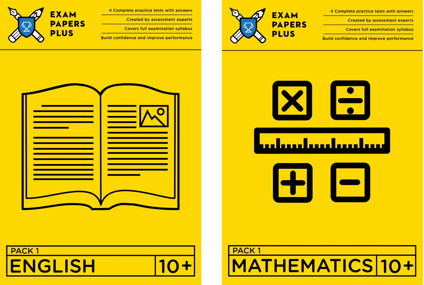 Images of 10 Plus exam papers