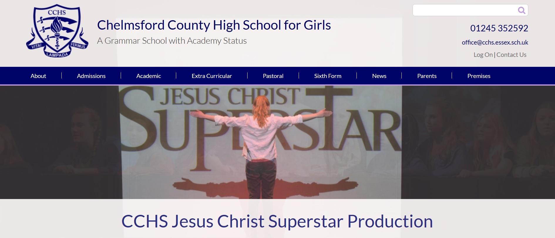 Screenshot of Chelmsford County High School