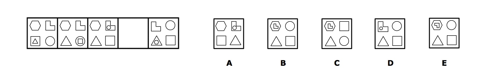 11+ Kent Sample Test Question Non-Verbal Reasoning