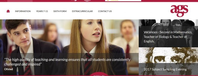 Screenshot of Alcester Grammar School website