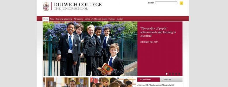 Screenshot of Dulwich College Junior School website