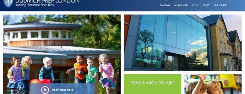Screenshot of Dulwich Prep London school website