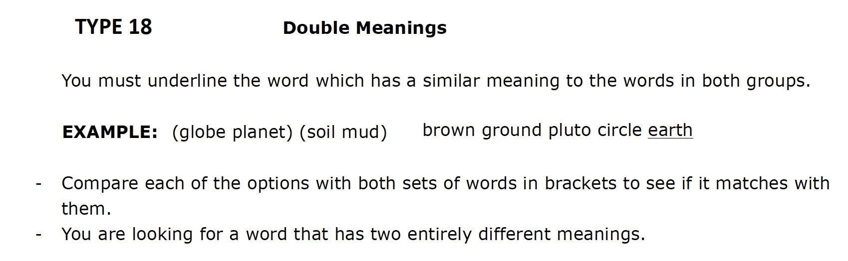 Kent 11 plus Verbal Reasoning Questions 4