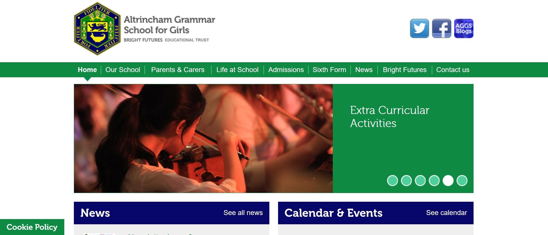 Altrincham Grammar School For Girls 11 Plus 11 Exam Information