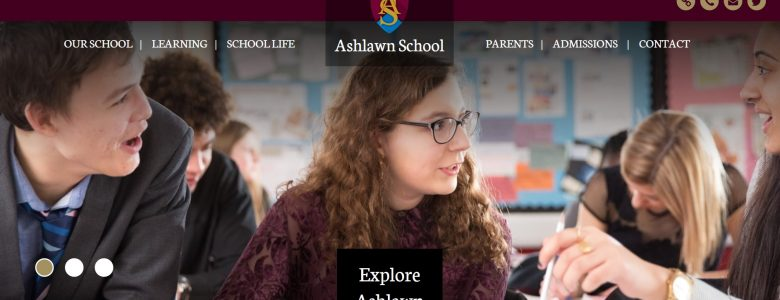 Screenshot of Ashlawn School website