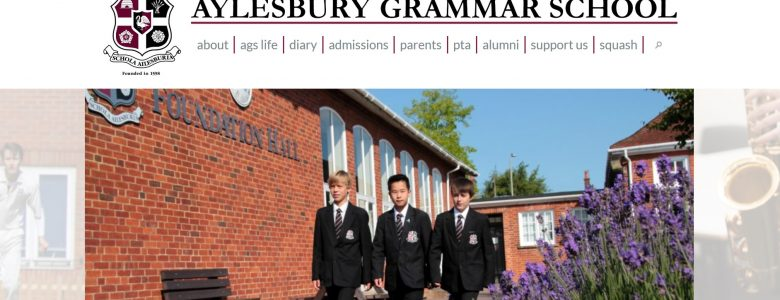 Screenshot of Aylesbury Grammar School website