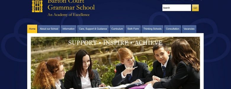 Screenshot of the Barton Court Grammar School website