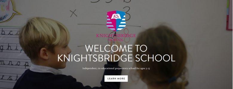 Screenshot of Knirghtsbridge School website