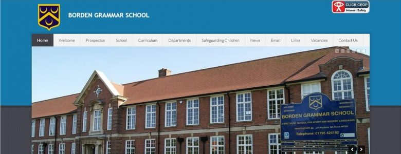 Screenshot of Borden Grammar School website