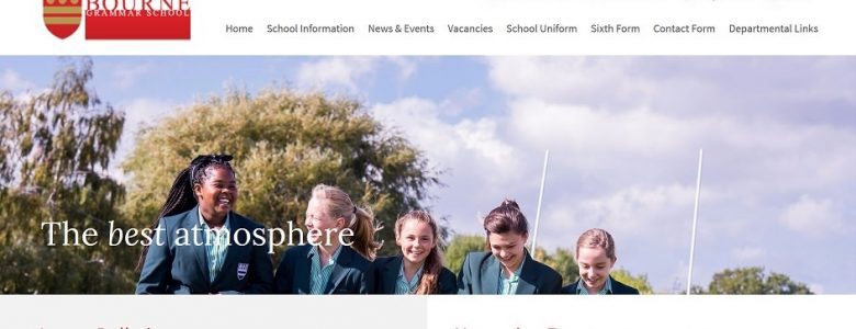 Screenshot of Bourne Grammar School
