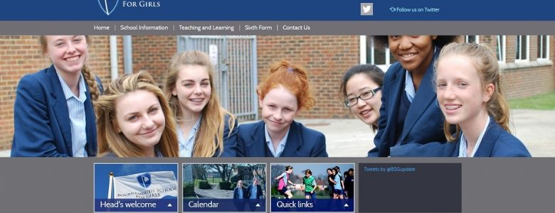 Screenshot of the Bournemouth School for Girls website