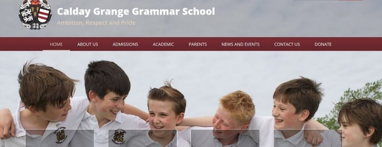 Screenshot of Calday Grammar School website