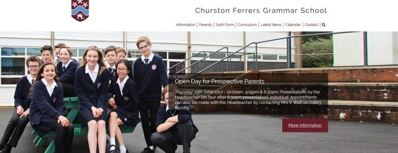 Screenshot of the Churston Ferrers Grammar School website