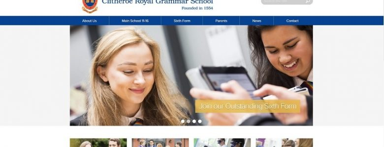 Screenshot of the Clitheroe Royal Grammar School website