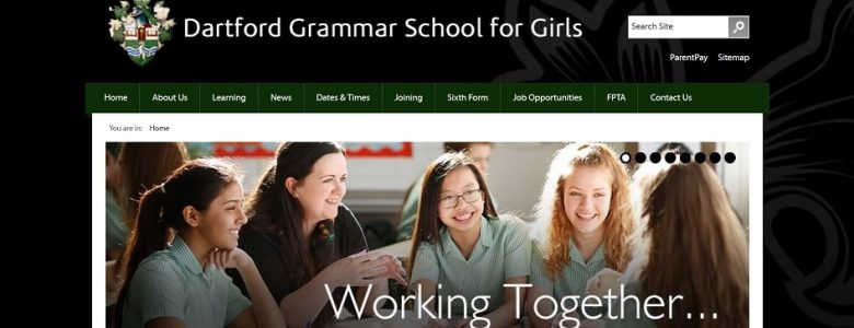 Screenshot of the Dartford Grammar School for Girls website