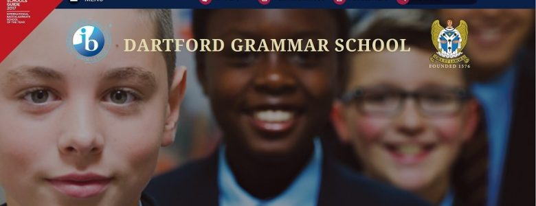 Screenshot of Dartford Grammar School website