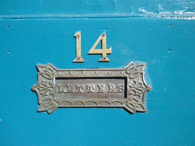 Photo of a front door letter box