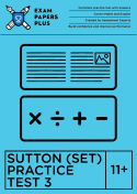 11+ Sutton SET exam sample papers