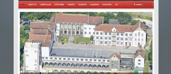 Screenshot of the Dover Grammar School for Boys website