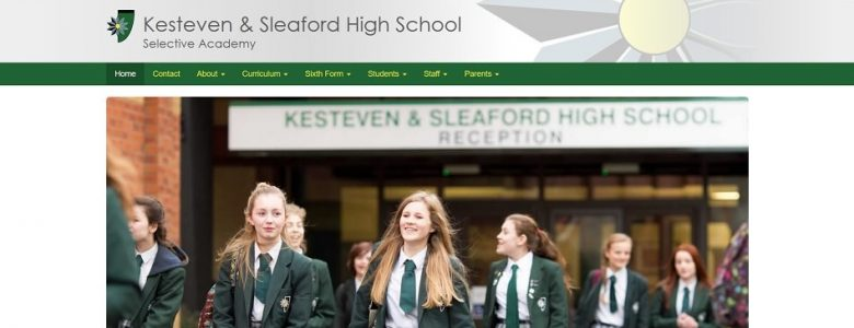 Screenshot of the Kesteven & Sleaford High School Selective Academy website