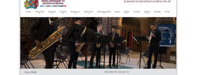 Screenshot of the King Edward VI Aston School website
