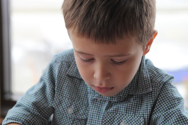 Boy concentrating