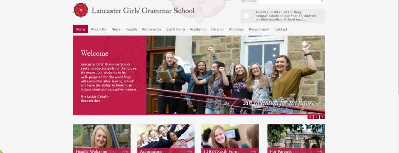 Screenshot of the Lancaster Girls' Grammar School website