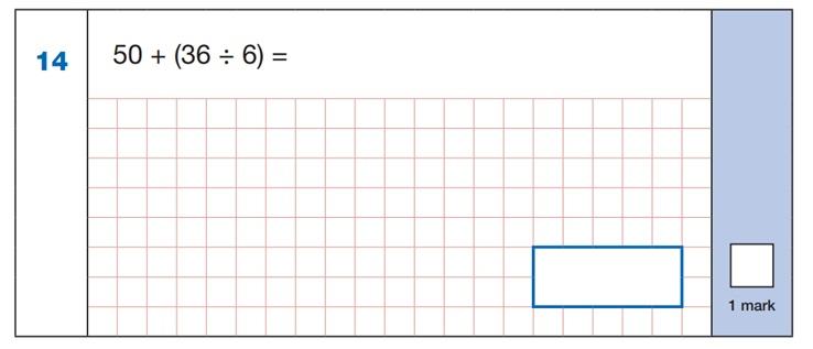 Maths SATs Sample Q3