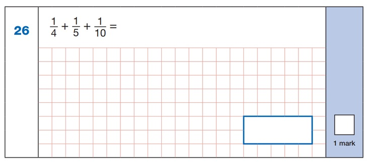Maths SATs Sample Q4