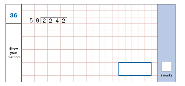Maths SATs Sample Q6